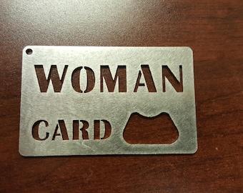 Woman Card Bottle Opener