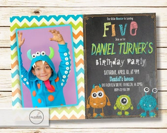Monster Birthday Invitation / Digital Printable Birthday Invite for Kids / DIY Monster Bash Party