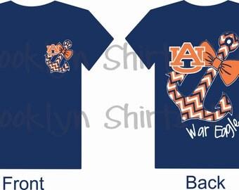 Inspired By Auburn War Eagle Custom T-Shirt