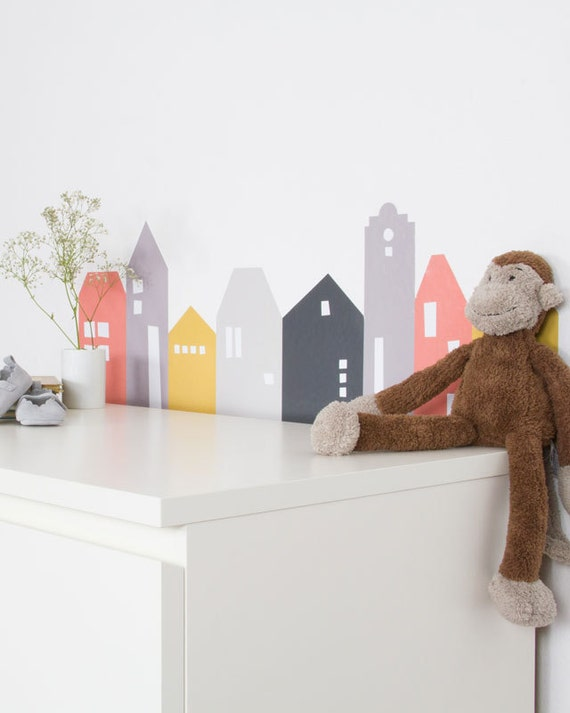 kids room wall decals lille hus wall sticker suitable. Black Bedroom Furniture Sets. Home Design Ideas