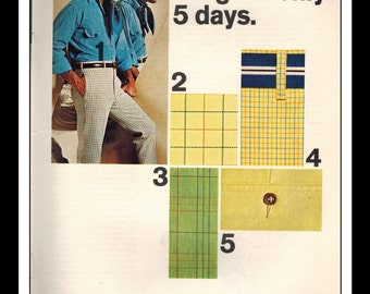 "Vintage Print Ad April 1969 : Days Slacks ""Remarkable"" Fashion Single Page Wall Art Decor 8.5"" x 11"" Advertisement"