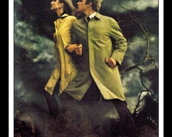 "Vintage Print Ad April 1969 :London Fog ""Trust In London Fog."" Advertisement Color Wall Art Decor 8.5"" x 11"""