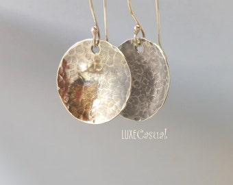 Sterling Silver Earrings, Small Sterling Earrings, Disc Earrings, Bridesmaids Gifts