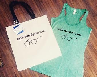 Talk Nerdy To Me Tank, Nerdy Shirts, Library shirts