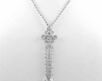 Ariana Czech Crystal Lariat Necklace