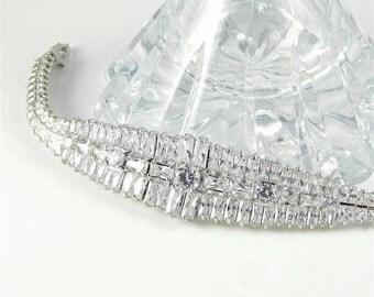 Art Deco Baguette Bracelet
