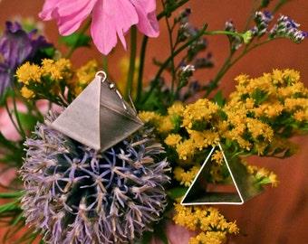 Pyramid Triangle Earrings