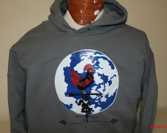 """Grateful Dead Hoodie  """"The Music Never Stopped."""""""