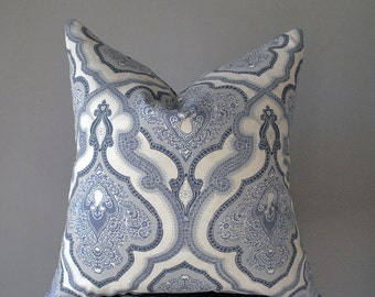 Throw pillows, Blue White Pillow cover, Decorative Pillow, Blue Pillow, Pillow cover 20x20,  Pillow cover 18x18, Sofa pillows, B2