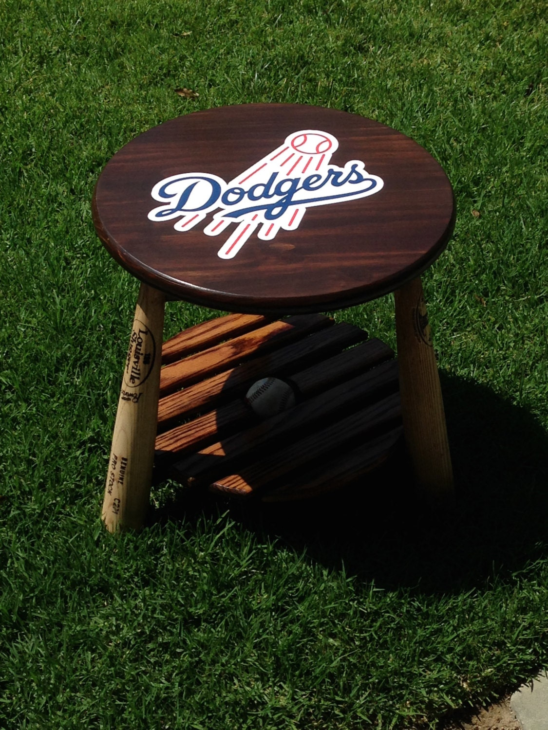 Baseball Side Table