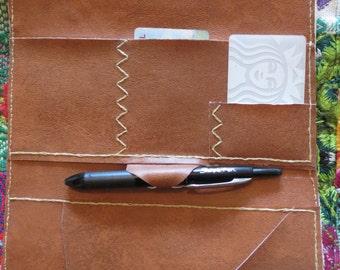 Faux Leather Travel Wallet- Juniper Wallet