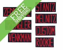 Ghostbusters Name Badges GB1 Uniform Embroidered Iron On Patch - FREE SHIPPING