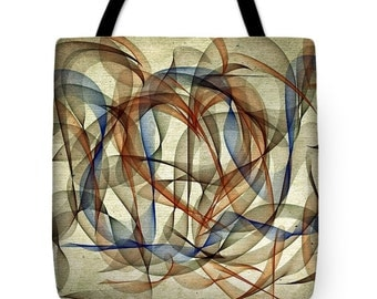 The Blues Abstract ...Tote Bag by artist Marian Palucci