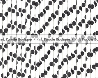 White & Black Polka Dot PAPER STRAWS / Drink STIRRERS (25 pc) -- pif . pay it forward . aok . act of kindness . free . clearance sale
