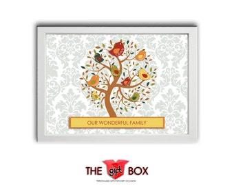 Personalised 'FAMILY TREE' Print