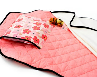 Toddler Nap Mat - PINK POPPIES