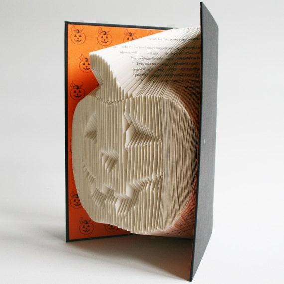 pumpkin book folding pattern includes free printable