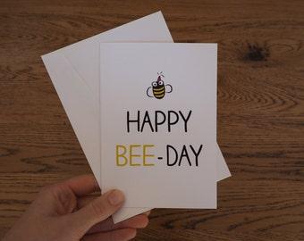 Happy BeeDay Birthday Celebration Greeting Card