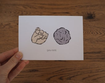You Rock Symbols Thank You Greeting Card