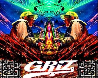 "Griz Red Rocks Poster 18x24"""