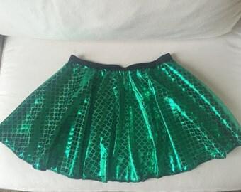 Mermaid Inspired Running Costume skirt/Costume/Outfit green shimmer