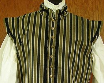 Large Striped SCA Fencing Jerkin Doublet - Gipsy Peddler Rapier Armor