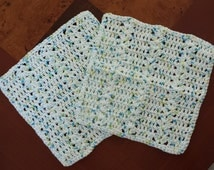 Hand Crocheted Wash Clothes for your face, Kitchen Crochet Washcloth, Crochet Dish Clothes
