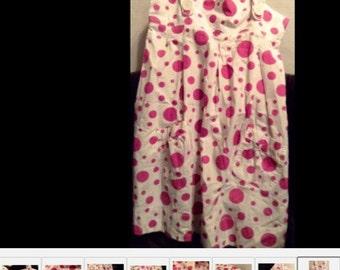 Girls DRESS 8/Y Spring/Summer Sleeveless Dress 100% Cotton - made in UK Amstramgram
