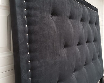 Suede Black Headboard (King)