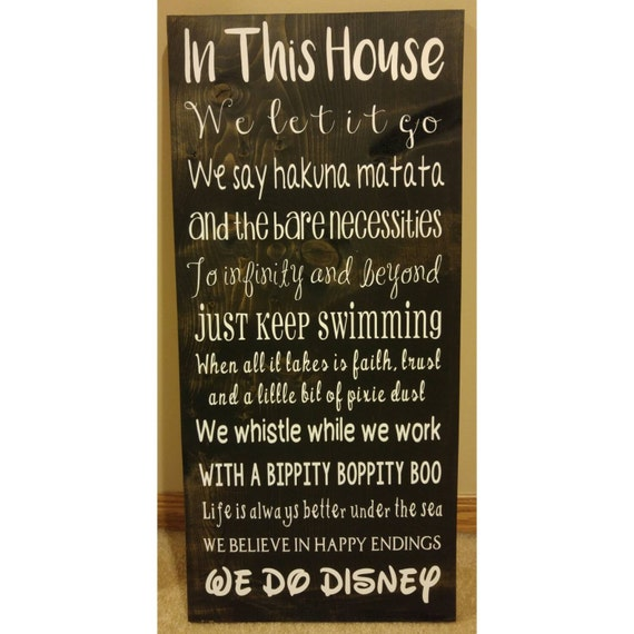 We Do Disney Wood Sign By Kaileighskreations On Etsy