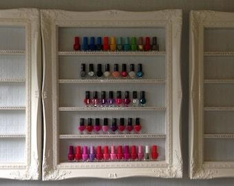 nail polish rack -rack de vernis à ongles-Nail polish cremagliera white french baroque
