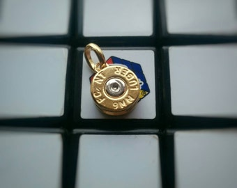 Pendant 9mm gold plated and rhodium