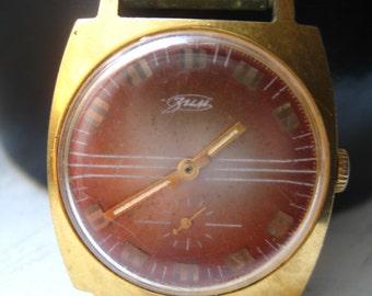 vintage soviet wrist watch Zim 15 jewels.