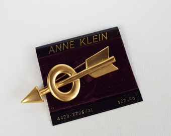 Vintage Anne Klein Gold Tone Arrow Brooch
