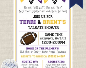 Tailgate Wedding Shower - Couples Shower, Tailgate Party - Customize for your favorite team - Digital File, You Print