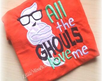 Boy Halloween Shirt, Halloween Shirt for boy, Baby Boy Shirt, Infant Halloween, Ghost Shirt, Embroidered Shirt,