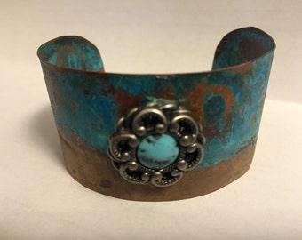 Copper Patina Cuff Bracelet