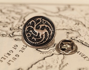 House Targaryen Dragon Pin Badge - Game of Thrones, Daenerys, GOT