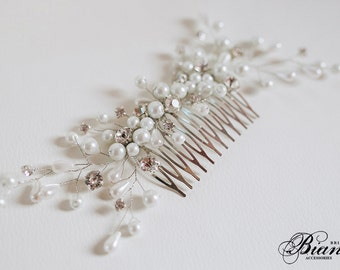 Bridal Comb, Bridal Hair Accessories, Pearl Hair Comb, Wedding Hairpiece, Bridal Hair Comb, Pearl Bridal Headpiece, Wedding Hair Accessories