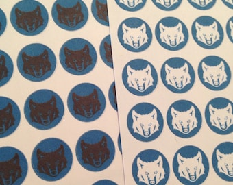Wolf boy troop stickers - choose between white or black wolves -  set of 49 stickers - for your EC, plum paper, filofax,  planner
