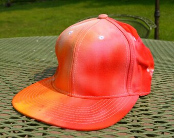 Red & Orange Hand Dyed Snapback Hat