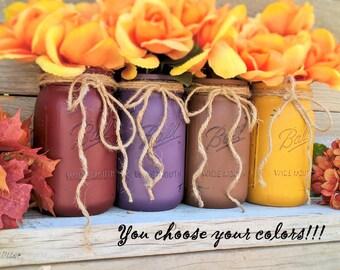 Beautiful Mason Jars for Fall Decor-Fall Decor-Thanksgiving Decor-Fall Wedding Decor-Fall Decor-Fall Table Centerpiece-Autumn-Halloween