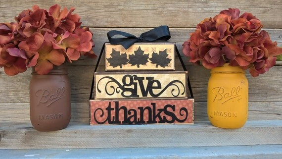 Fall Decor Thanksgiving Home Decor Rustic Home Decor Give