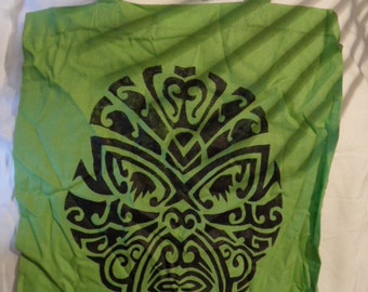Fabric bag with Maori head