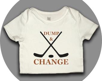 Hockey Onesie - Dump & Change - Baby Shower Gift