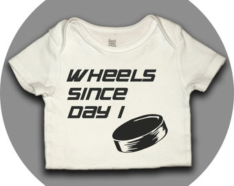 Hockey Onesie - Wheels Since Day 1