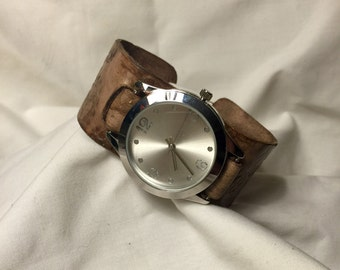 Custom leather made watch