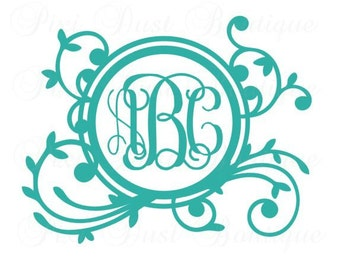 Vinyl Monogram, Monogram Decal, Monogram Sticker, Vinyl Decal, Vinyl Stickers, Vinyl Decal Car, Monogram, Macbook Decal, Custom Stickers