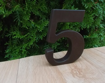 """1-15 5"""" Wooden table numbers, Wedding table decoration, Wedding reception decor, Party, Table Numbers, Anniversary, Free standing numbers"""