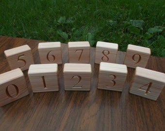 Wooden number blocks, Counting blocks, Educational numbers, Eco friendly toy, Handmade wooden toy, Educational gift, Gift for baby, Learning